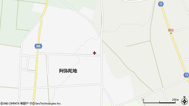 山形県上山市阿弥陀地497周辺の地図
