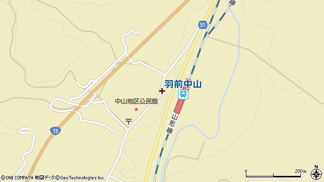山形県上山市中山3097周辺の地図