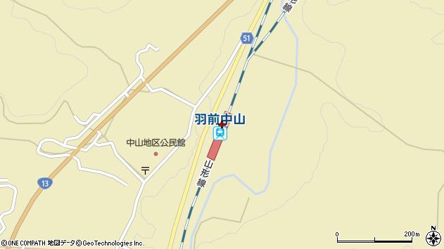 山形県上山市中山3590周辺の地図