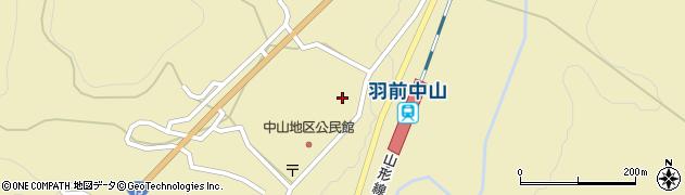 山形県上山市中山上町周辺の地図