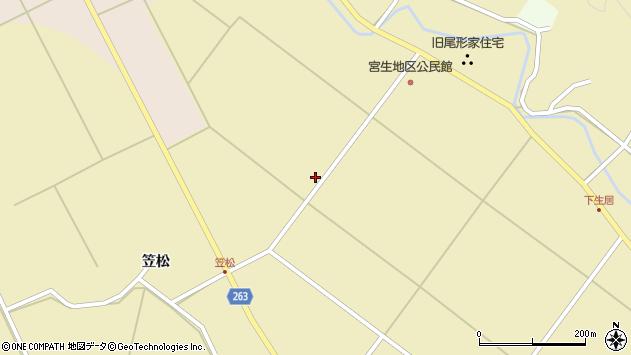 山形県上山市下生居谷地340周辺の地図