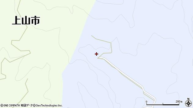 山形県上山市中生居小金入周辺の地図