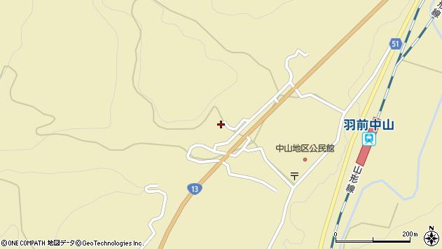山形県上山市中山3249周辺の地図