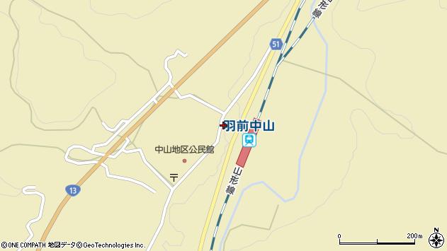 山形県上山市中山3181周辺の地図