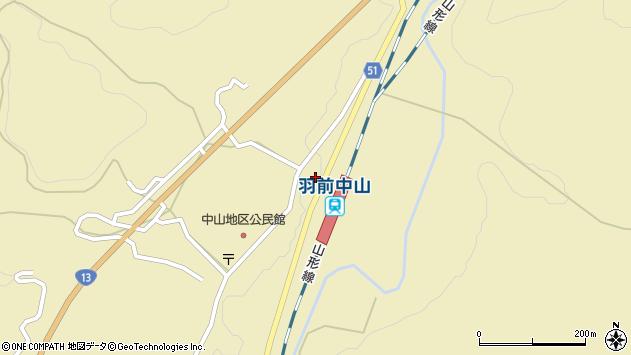 山形県上山市中山上町3592周辺の地図
