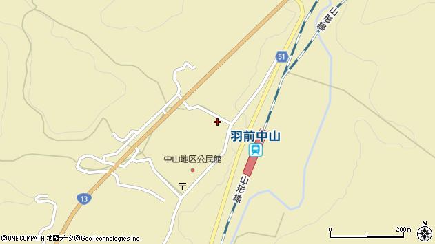 山形県上山市中山粡町3185周辺の地図