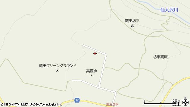 山形県上山市永野蔵王山国有林2427周辺の地図