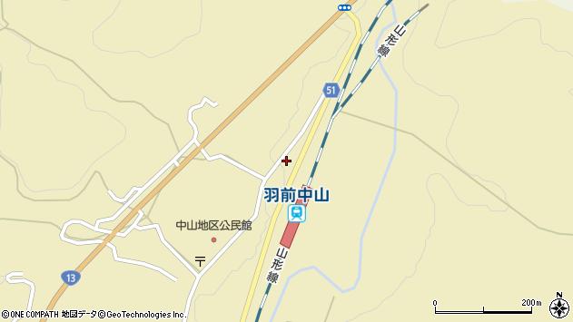 山形県上山市中山3586周辺の地図