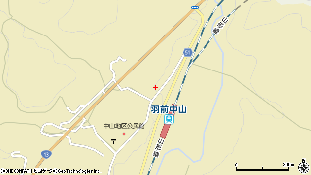山形県上山市中山3532周辺の地図
