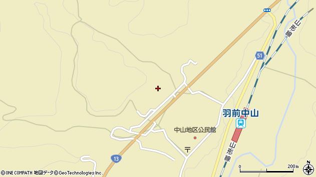 山形県上山市中山3427周辺の地図