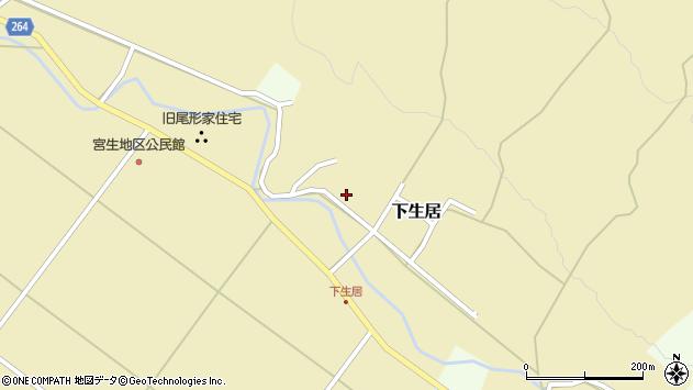 山形県上山市下生居152周辺の地図