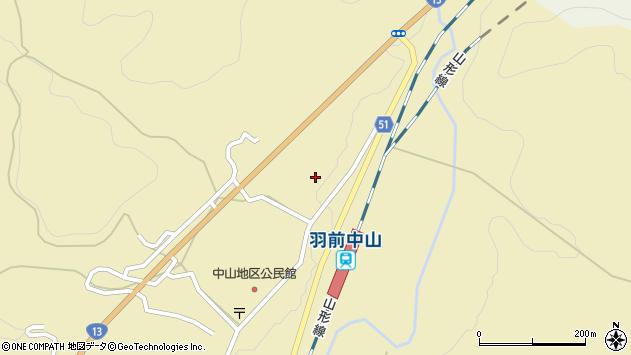 山形県上山市中山3540周辺の地図