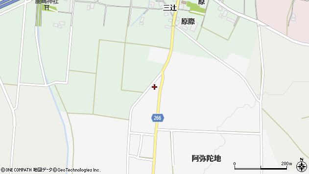 山形県上山市阿弥陀地111周辺の地図