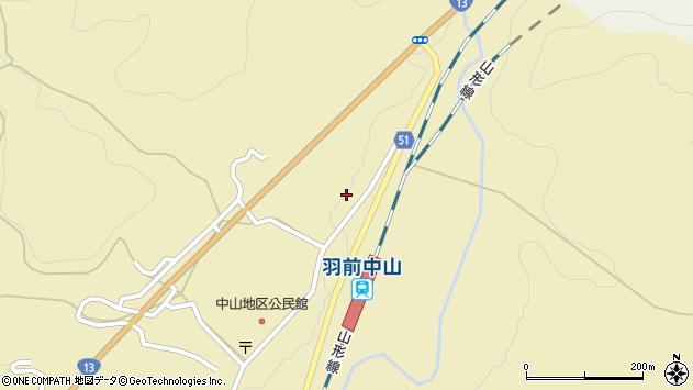 山形県上山市中山3545周辺の地図