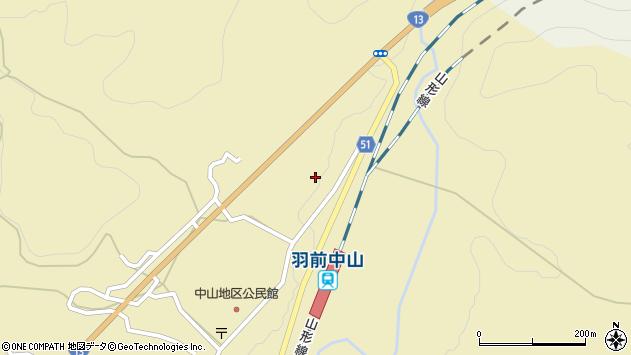 山形県上山市中山3554周辺の地図