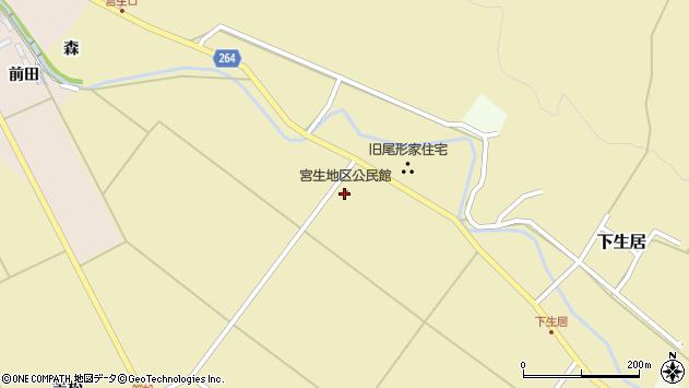 山形県上山市下生居屋敷前288周辺の地図