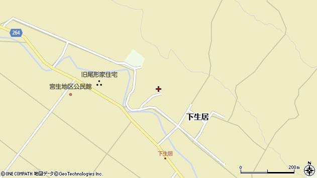 山形県上山市下生居828周辺の地図
