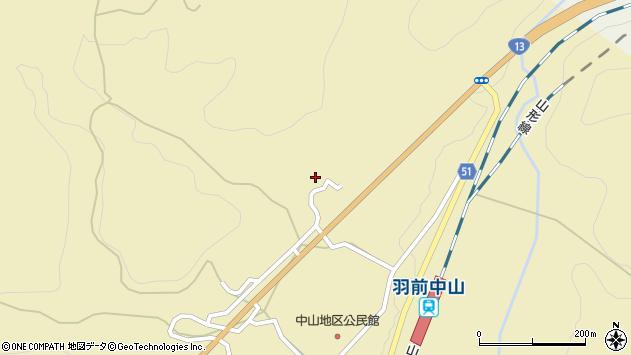 山形県上山市中山5345周辺の地図