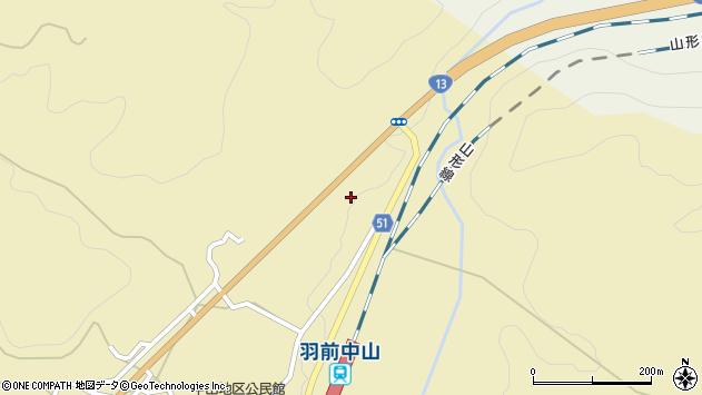 山形県上山市中山4216周辺の地図