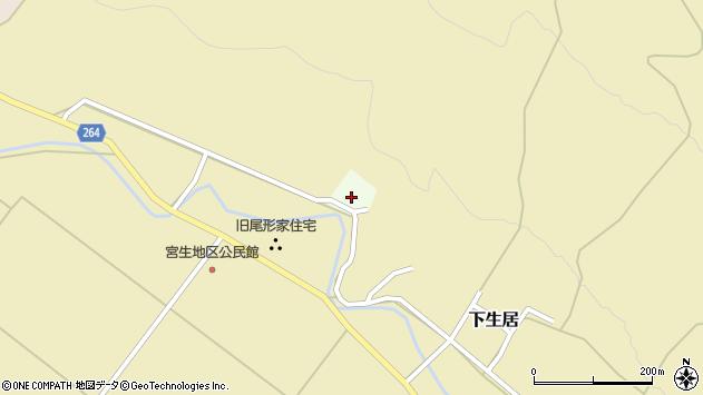 山形県上山市中生居杉田周辺の地図