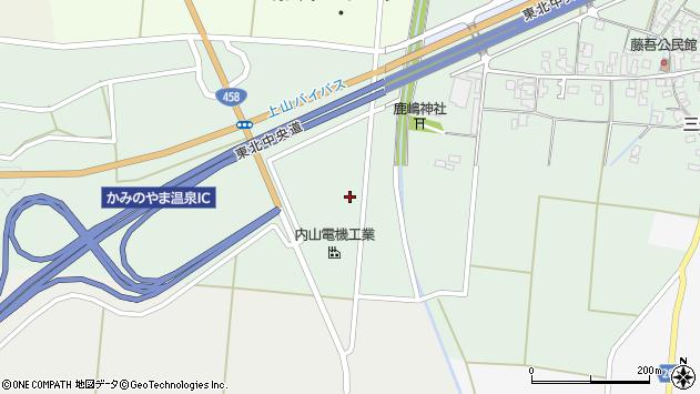 山形県上山市藤吾大田周辺の地図