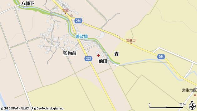 山形県上山市宮脇監物前114周辺の地図