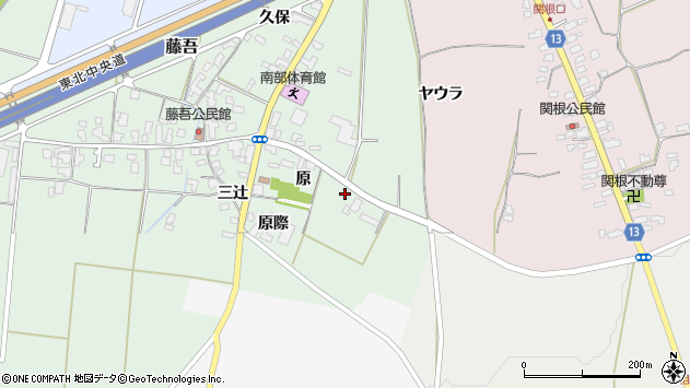 山形県上山市藤吾原2061周辺の地図