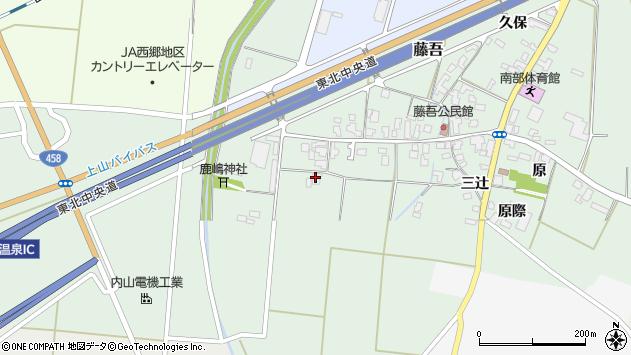 山形県上山市藤吾34周辺の地図