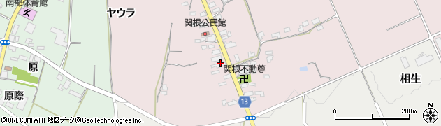 山形県上山市関根6周辺の地図