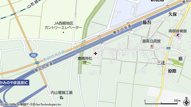 山形県上山市藤吾道上812周辺の地図
