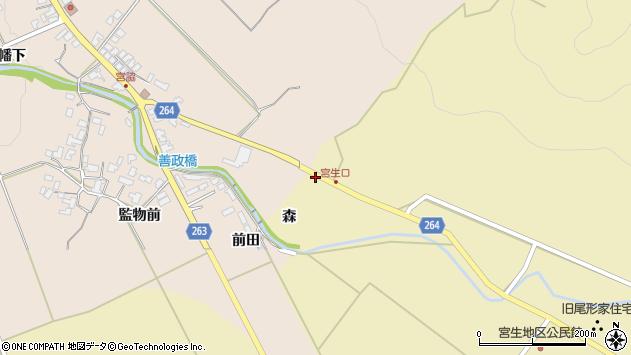 山形県上山市下生居森737周辺の地図