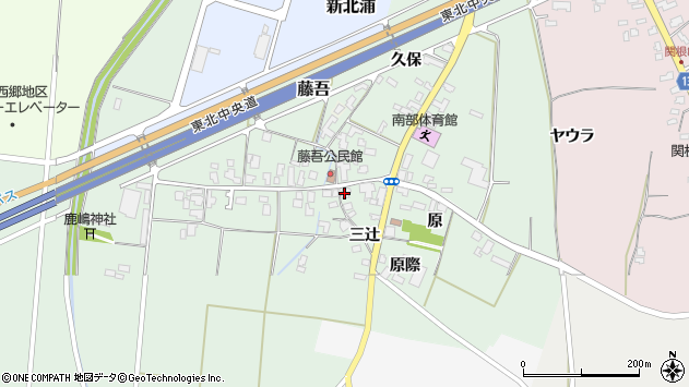 山形県上山市藤吾18周辺の地図