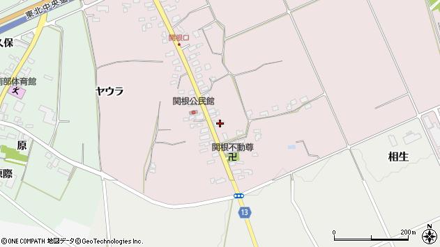山形県上山市関根39周辺の地図