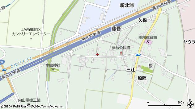 山形県上山市藤吾3周辺の地図