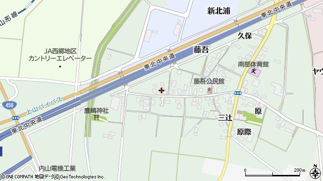 山形県上山市藤吾2周辺の地図