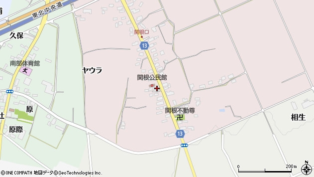 山形県上山市関根10周辺の地図