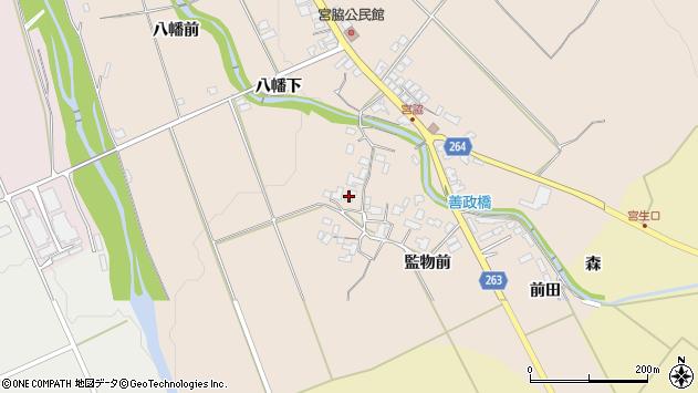 山形県上山市宮脇947周辺の地図