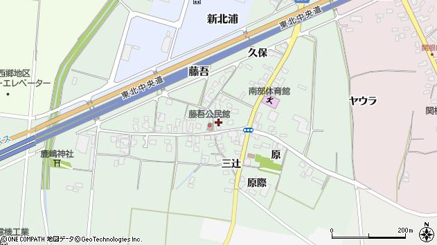 山形県上山市藤吾14周辺の地図