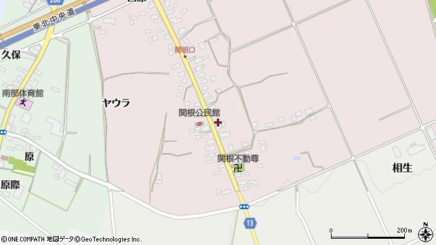 山形県上山市関根38周辺の地図