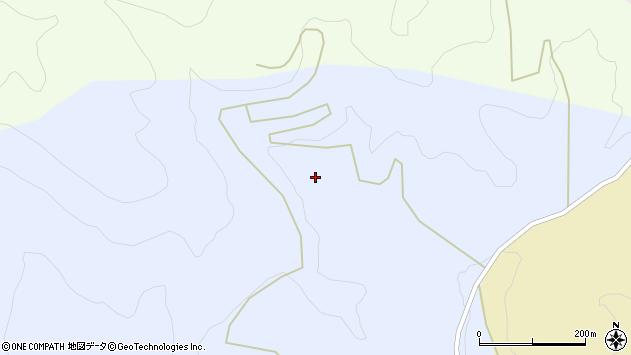 山形県上山市中生居黒木周辺の地図