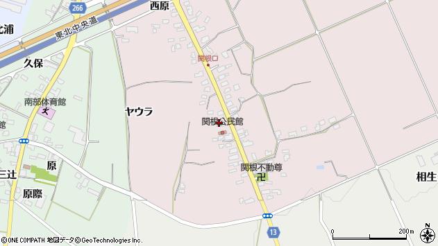 山形県上山市関根13周辺の地図