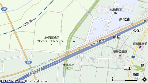 山形県上山市藤吾北浦1954周辺の地図