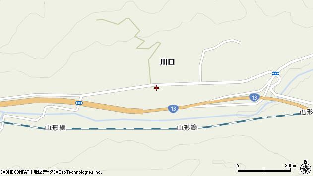 山形県上山市川口山際48周辺の地図