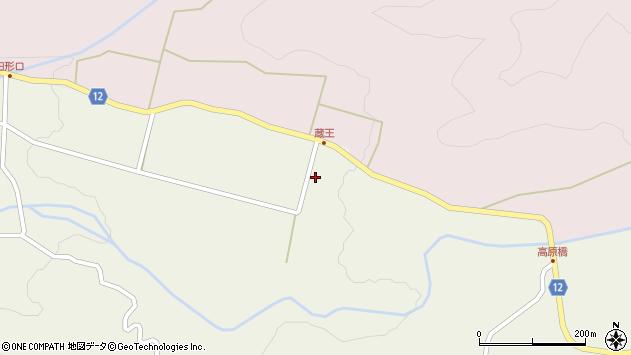 山形県上山市蔵王2495周辺の地図