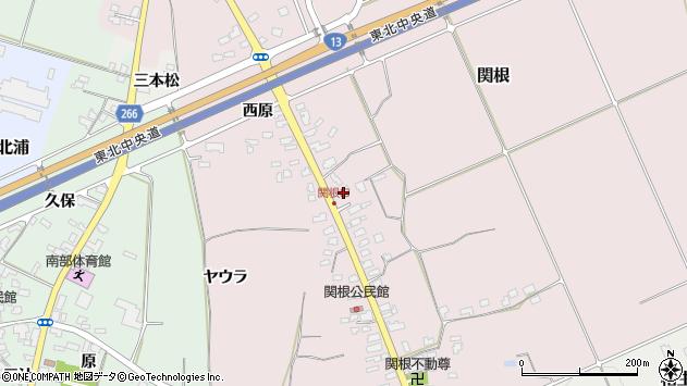 山形県上山市関根28周辺の地図