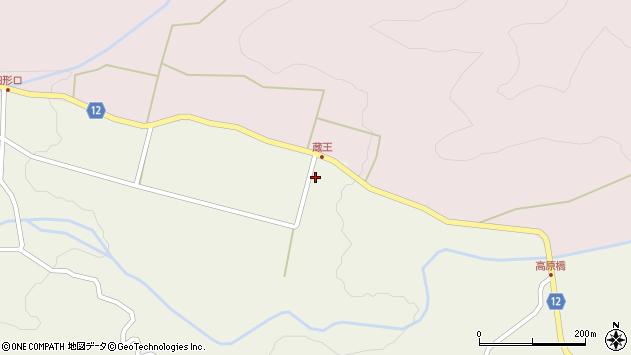 山形県上山市蔵王2496周辺の地図