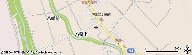山形県上山市宮脇103周辺の地図