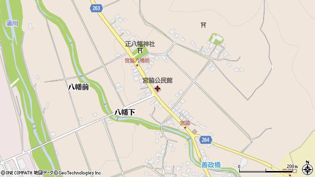 山形県上山市宮脇向田80周辺の地図