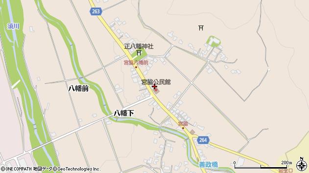 山形県上山市宮脇80周辺の地図
