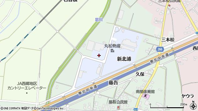 山形県上山市新北浦2周辺の地図